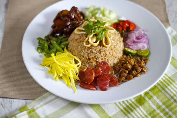 Khao kluk kapi thai fried rice with shrimp paste ccuart Images
