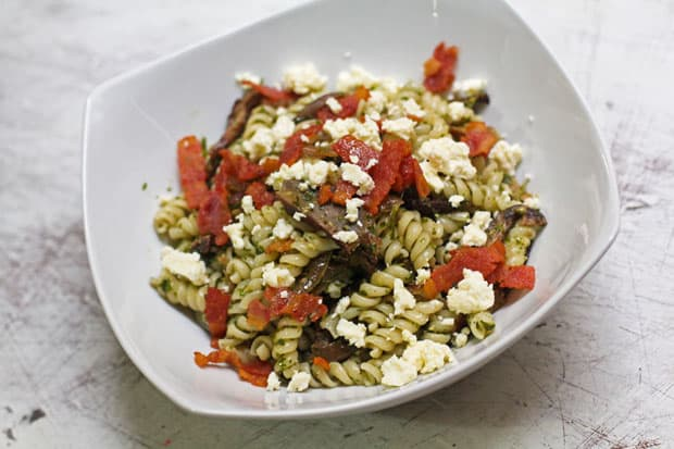 Fusilli with Cilantro-Calamansi Pesto