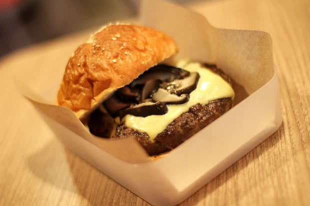 Beef Burger:  Backyard Burger's Truffle Burger