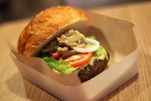 Beef Burger:  Backyard Burger's Extreme Backyard Burger with Mushrooms