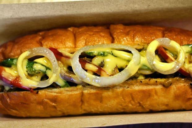 Philly Cheesesteak:  Backyard Burgers' Beef Belly Cheesesteak