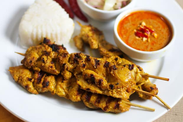 Malaysian Chicken Satay with Peanut Sauce