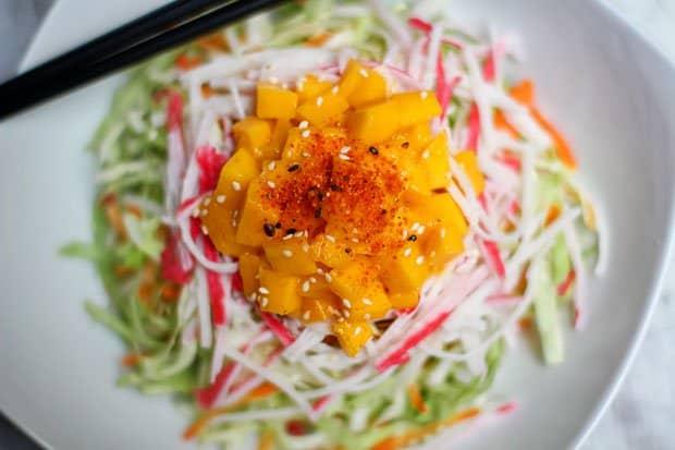 Japanese-Style Salad with Roasted Sesame Dressing