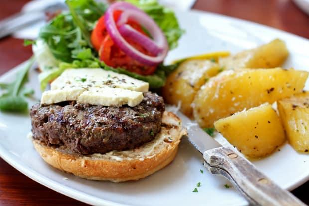Beef Burger:  Cyma's Greek Wagyu Burger