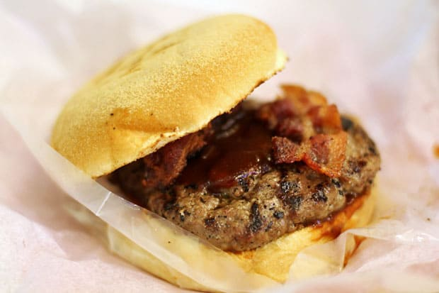 Beef Burger:  Big Better Burgers' Bacon BBQ