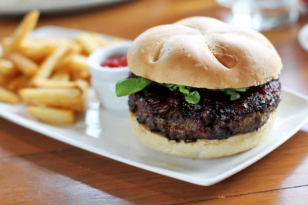 Beef Burger: Black Olive's Italian Burger