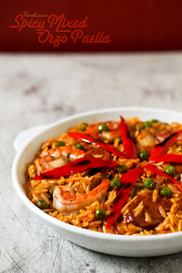 Spicy Mixed Orzo Paella