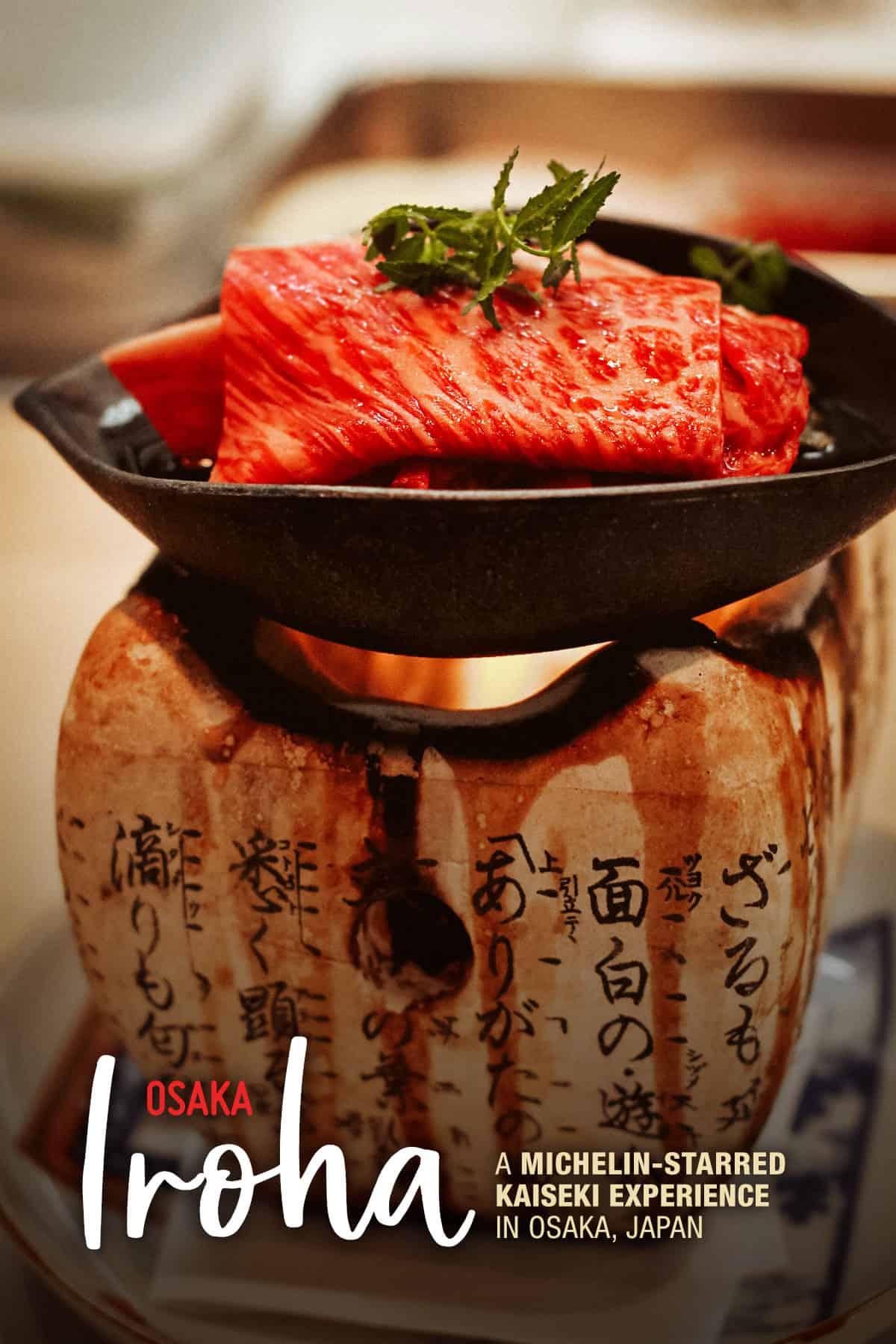 Saga beef at Iroha, Osaka, Japan