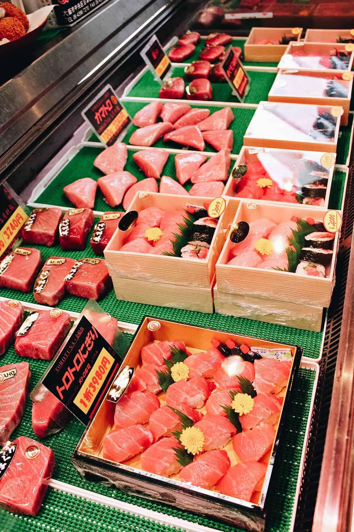 Toro at Kuromon Ichiba Market