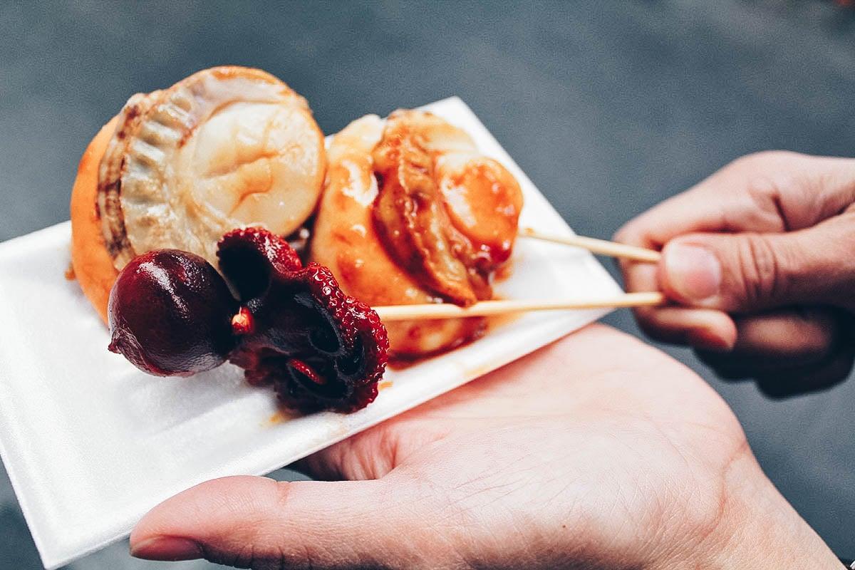 Kuromon Ichiba Market:  Where to Eat the Most Delicious Street Food in Osaka, Japan