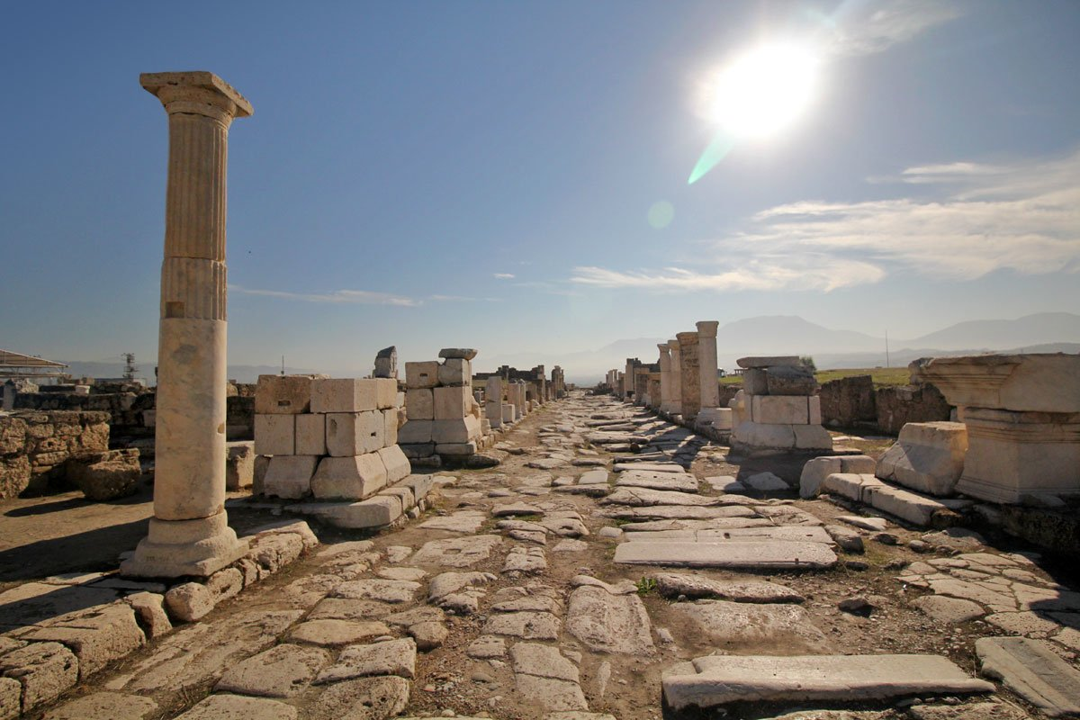 The Rise of Laodicea in Pamukkale, Denizli, Turkey