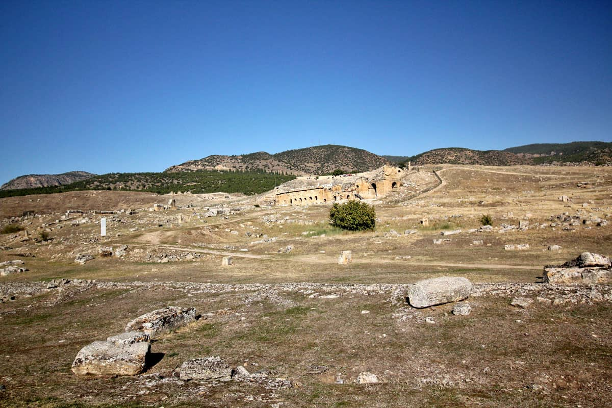 Hierapolis Archaeological Park and the Calcium Travertines of Pamukkale, Turkey