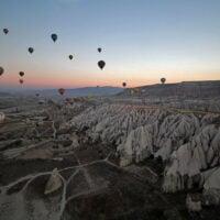 Hot air ballooks over Cappadocia, Turkey