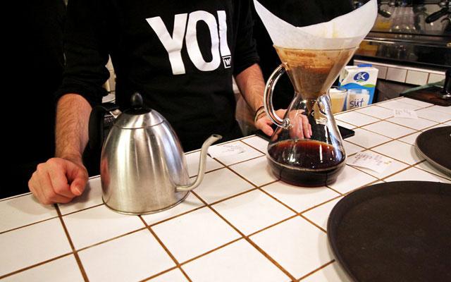 Yo, Drink your Coffee Bitch!  At Walter's Coffee Roastery in Istanbul, Turkey