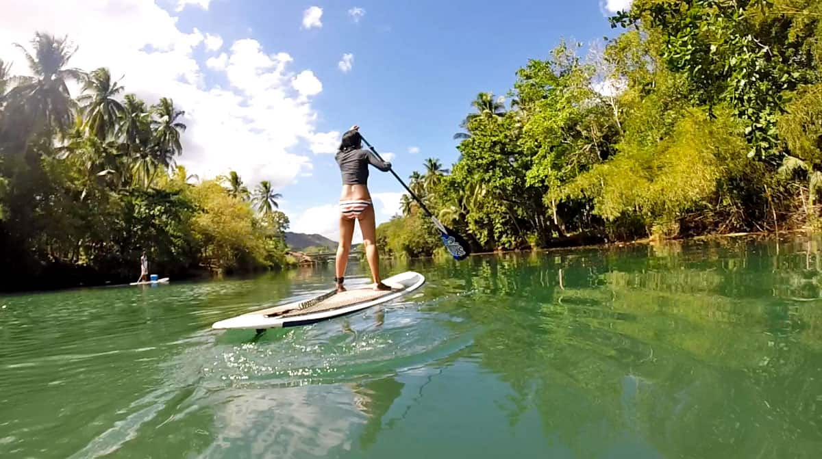 Go Stand Up Paddleboarding & Mountain Biking at Loboc River in Bohol, the Philippines