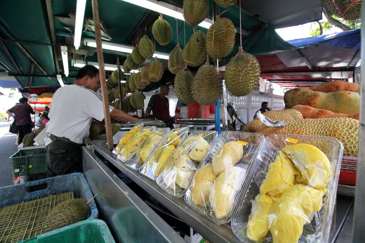 Ah Teik Durian Stall Lorong Susu in Penang, Malaysia