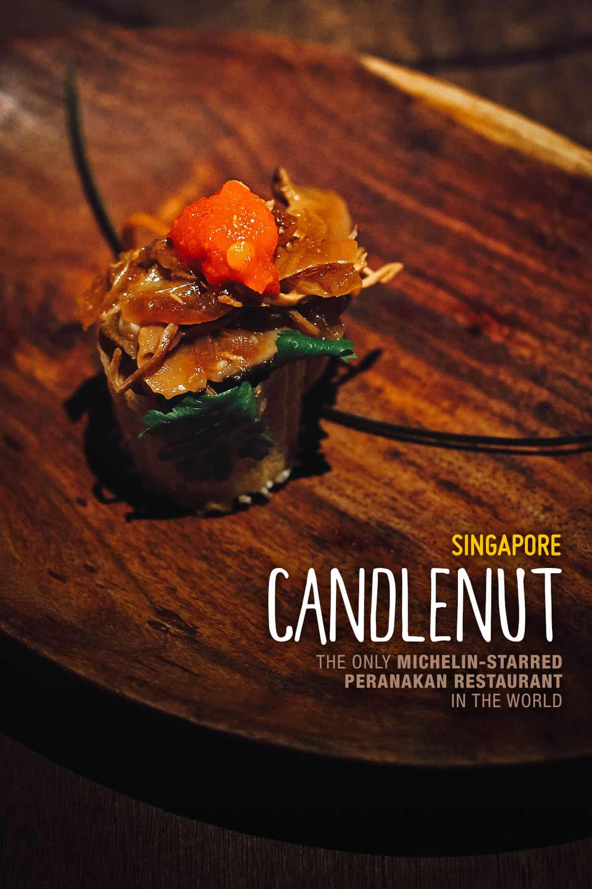 Amuse-bouche at Candlenut, Singapore
