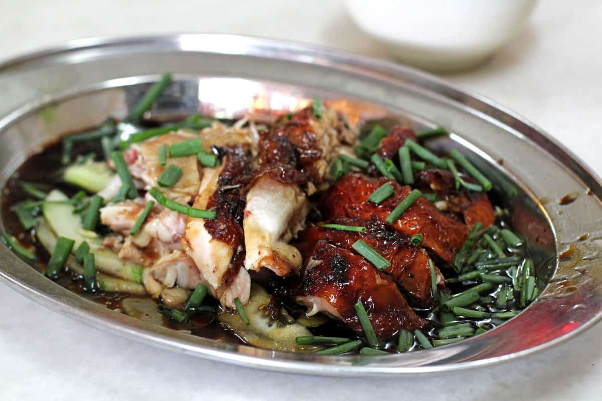 Steamed and roast chicken at First Famous Federal Restaurant in Penang, Malaysia