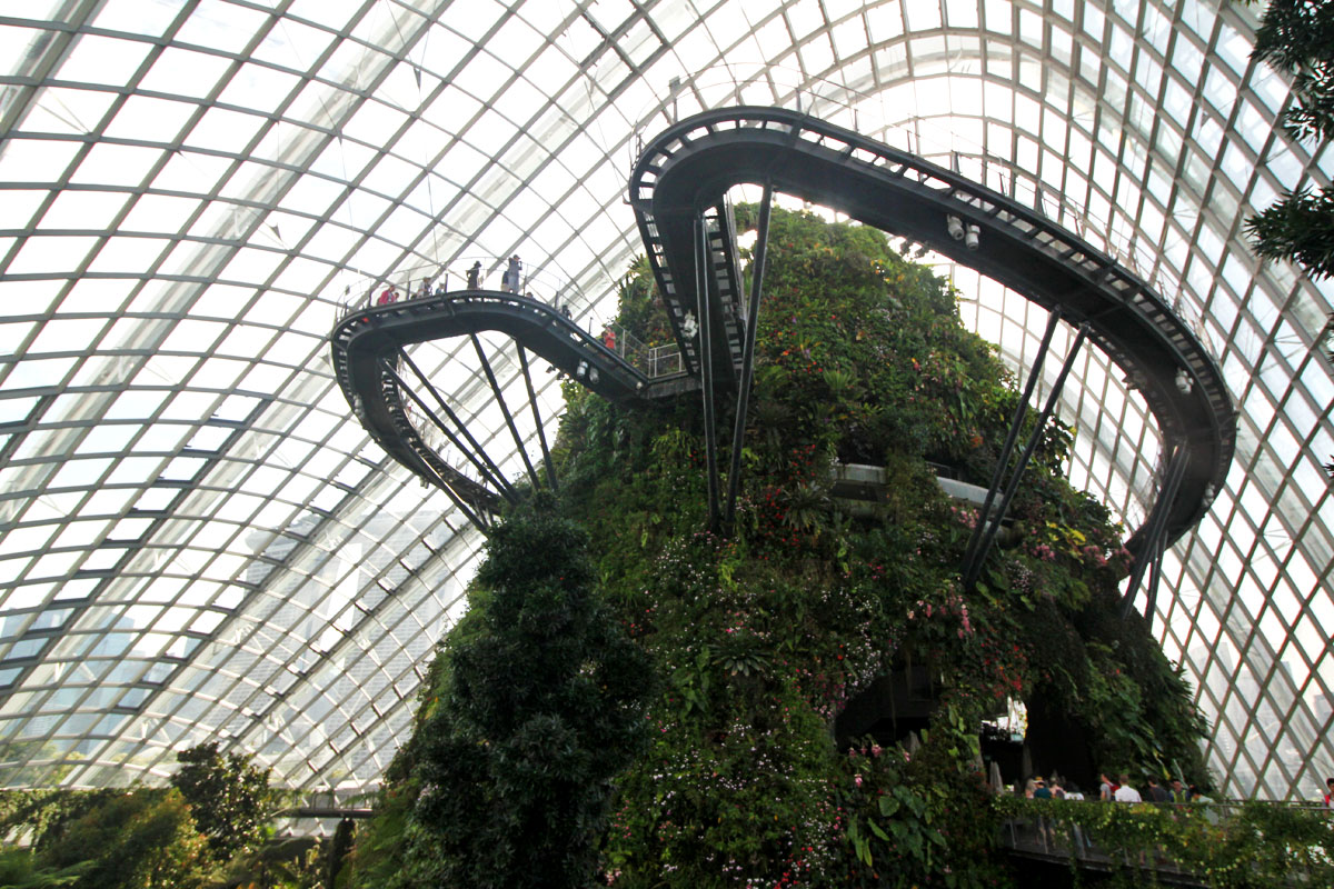 Step into a Domed Mountain Realm at Cloud Forest, Gardens by the Bay, Singapore