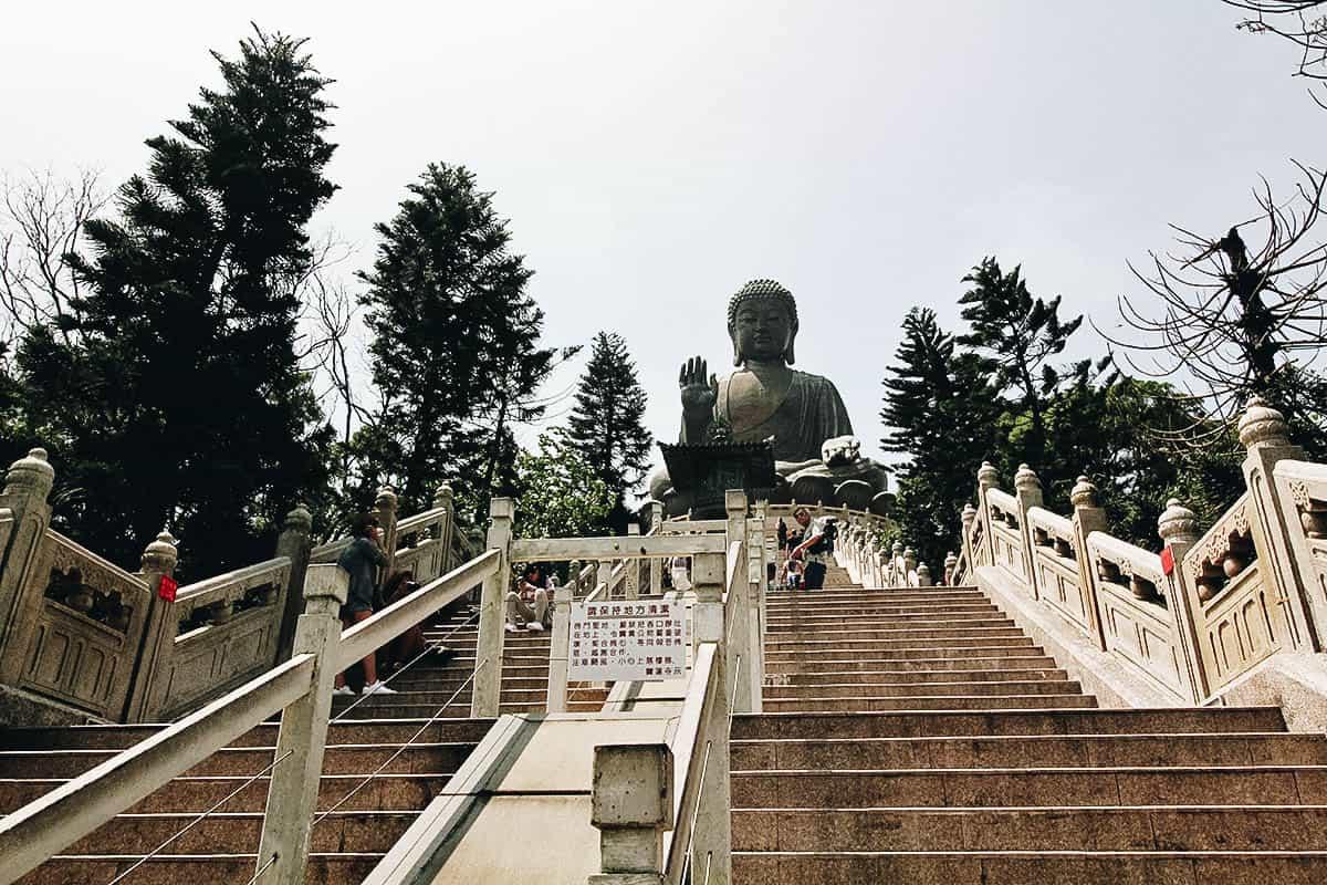 A Cable Car, a Giant Buddha, and a Streetful of Seafood on Lantau Island, Hong Kong