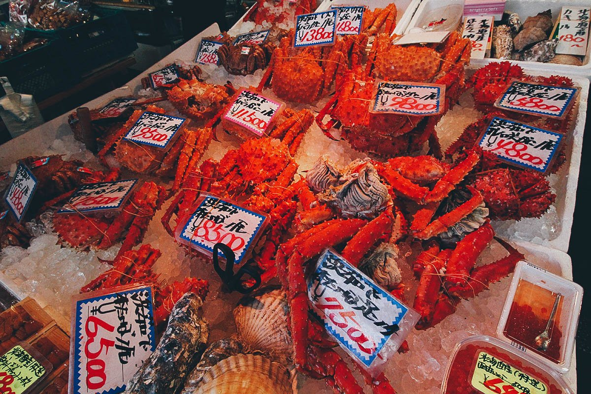 Nijo Market: Where it Sucks to be a Crab in Sapporo, Japan
