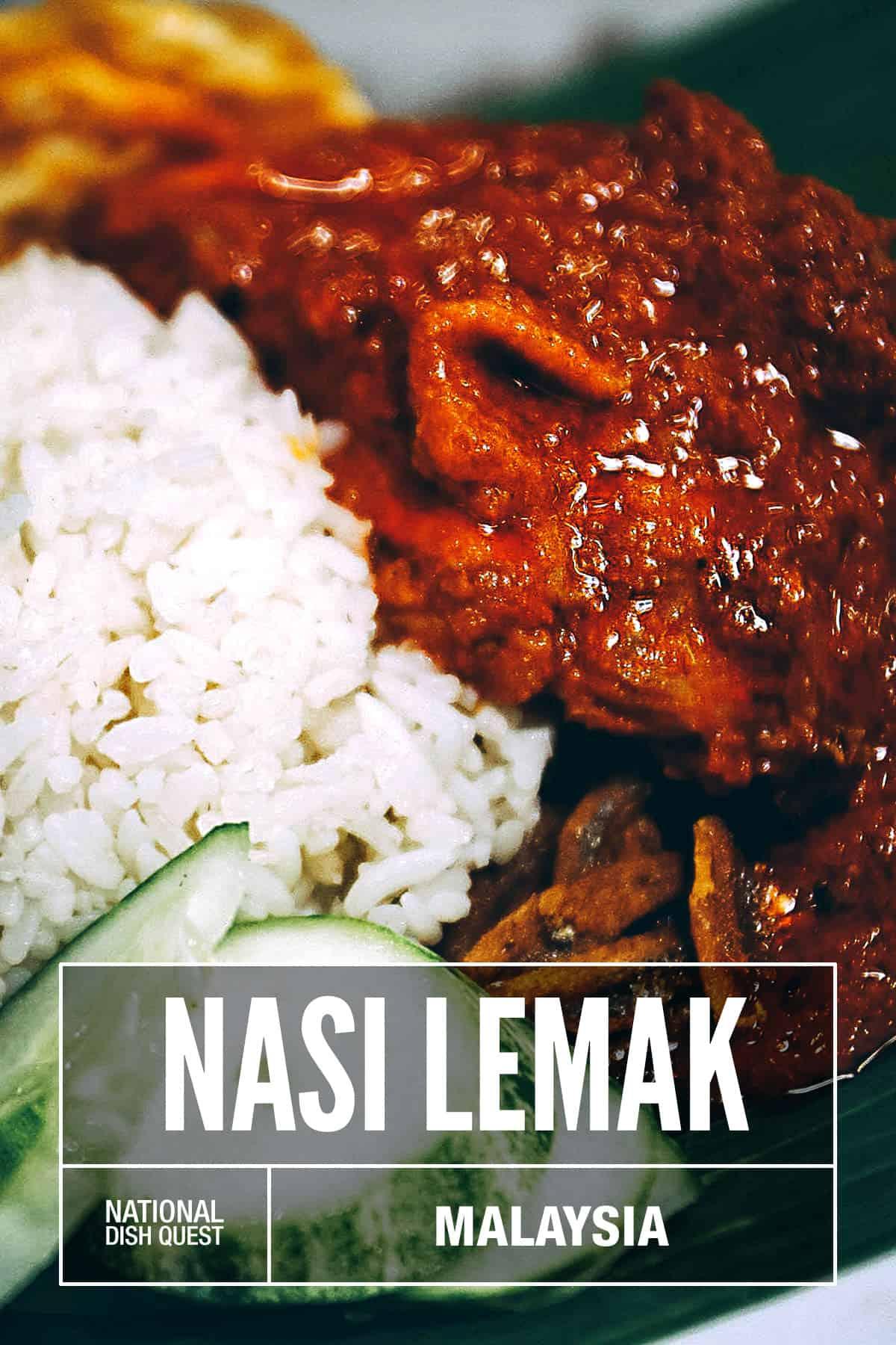 Plate of nasi lemak