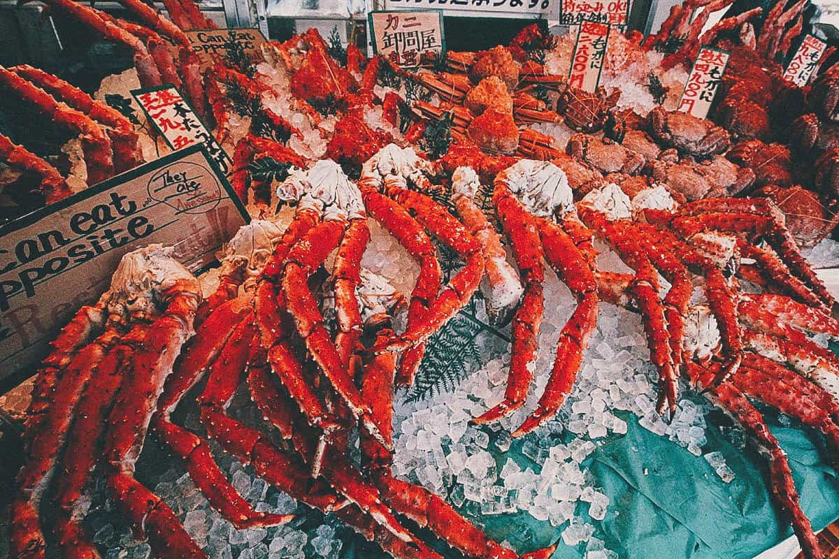 King crab at Nijo Market in Sapporo