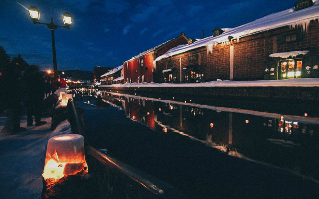 Enjoy the Snow Light Path Festival in Otaru, a Charming Port City near Sapporo