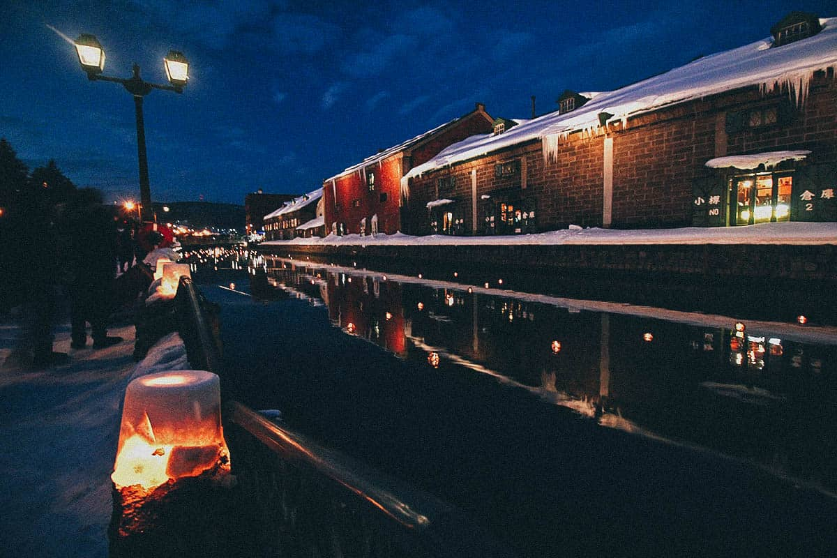 Enjoy the Snow Light Path Festival in Otaru, a Charming Port City near Sapporo