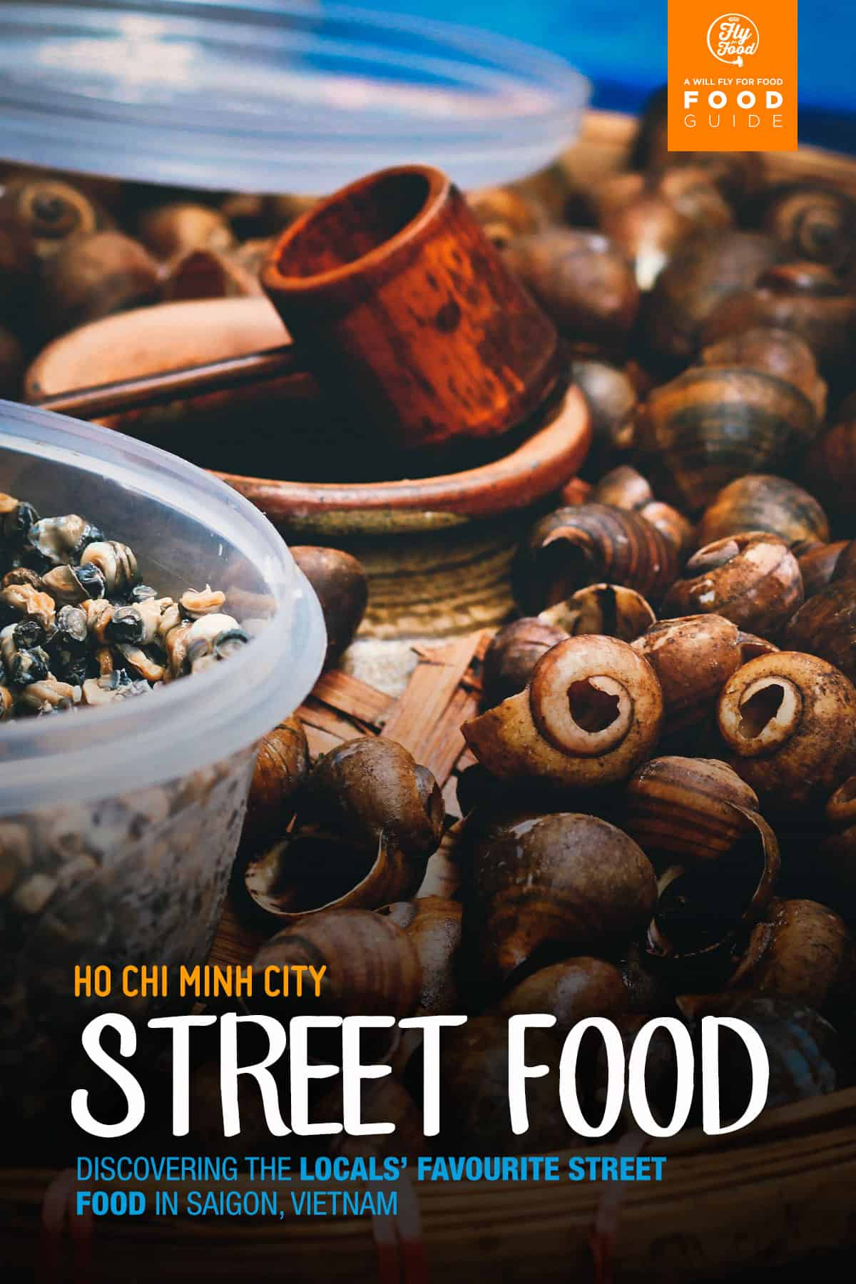 Street food vendor selling snails