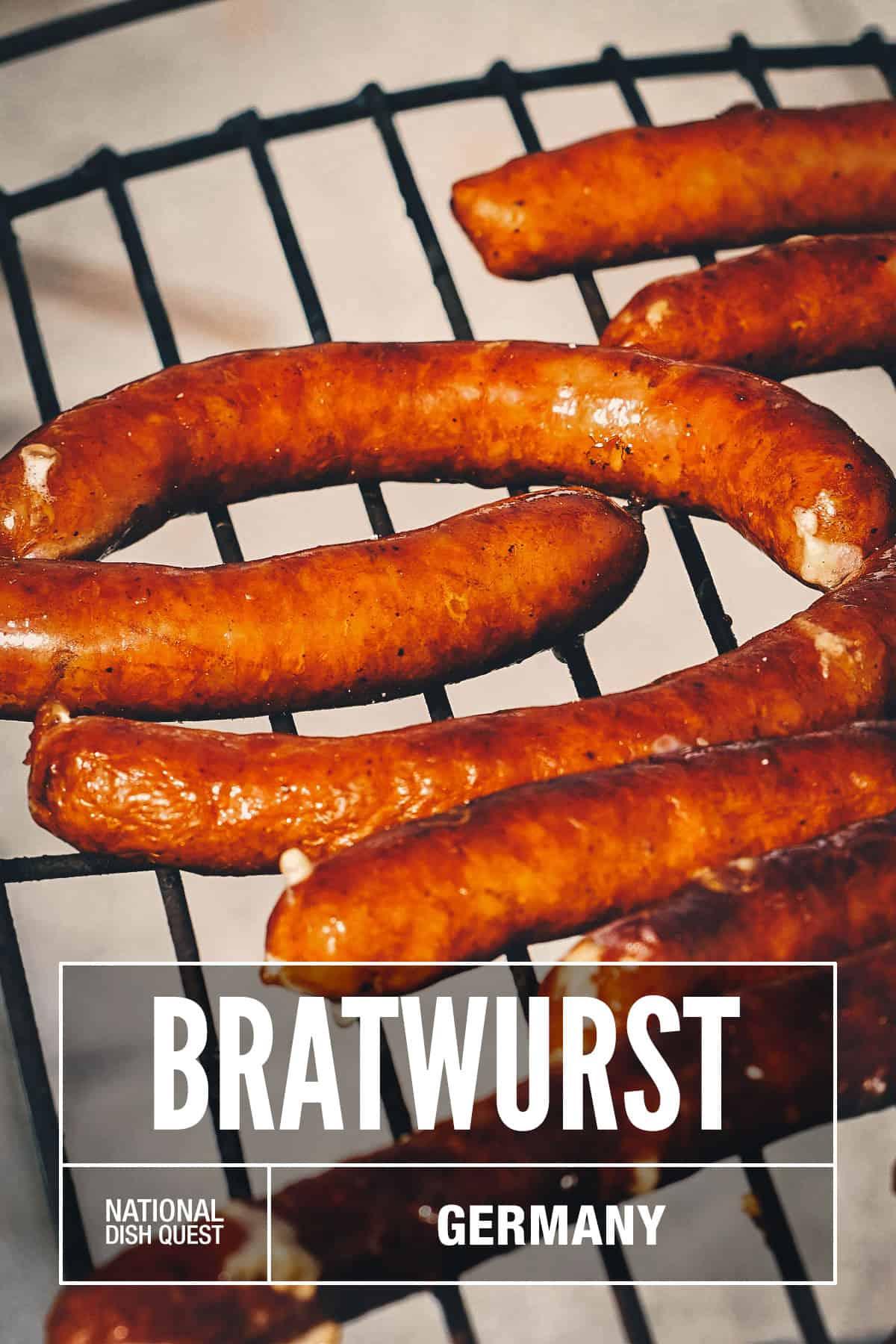 Bratwursts grilling
