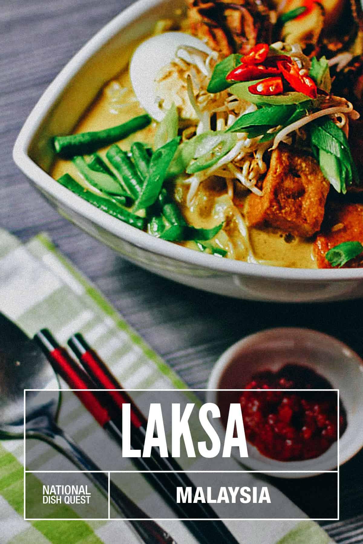 Bowl of laksa