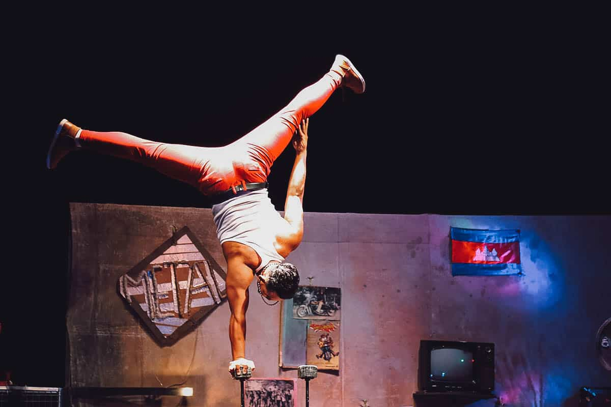 Acrobat performing at Phare