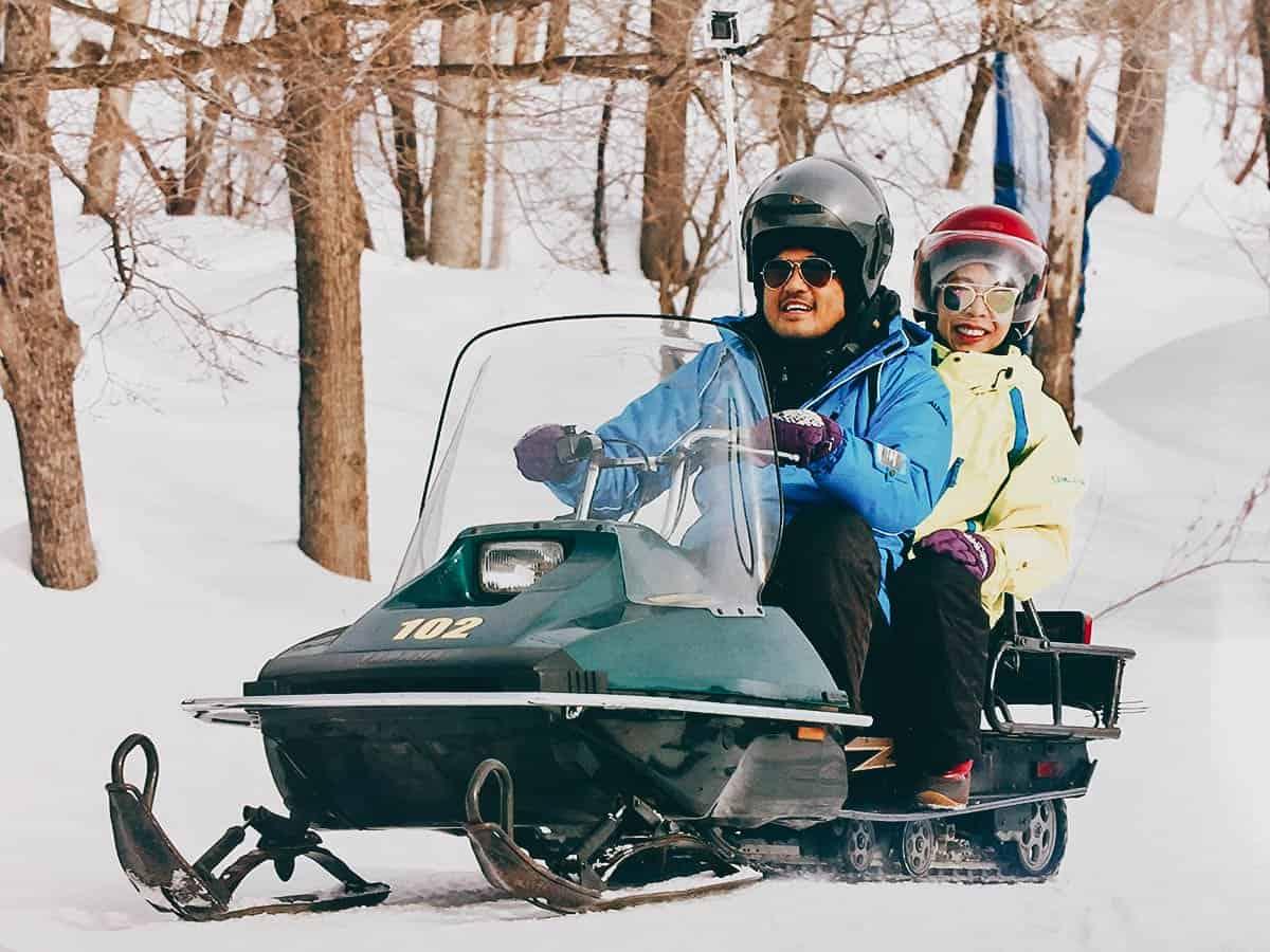 Snowmobile Land, Sapporo, Hokkaido, Japan