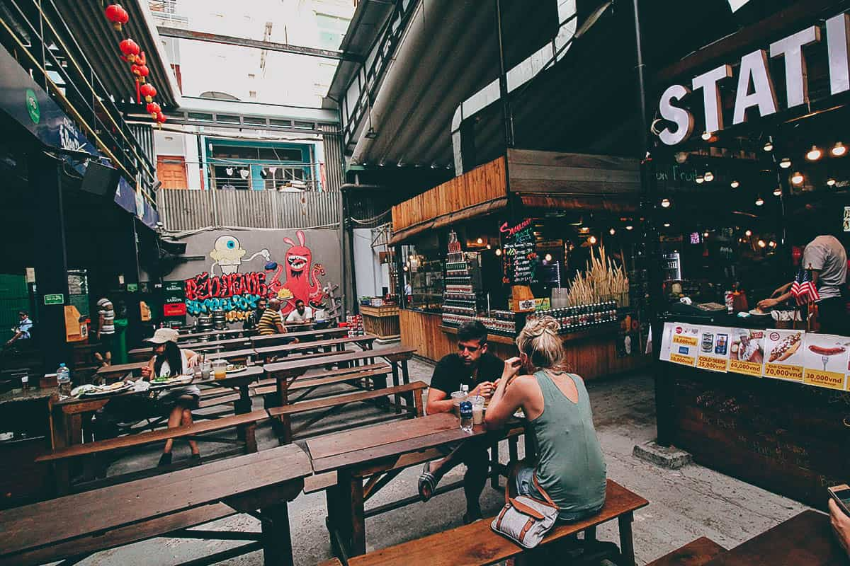 Ben Thanh Street Food Market: A Trendy Food Hall in Ho Chi Minh City (Saigon), Vietnam