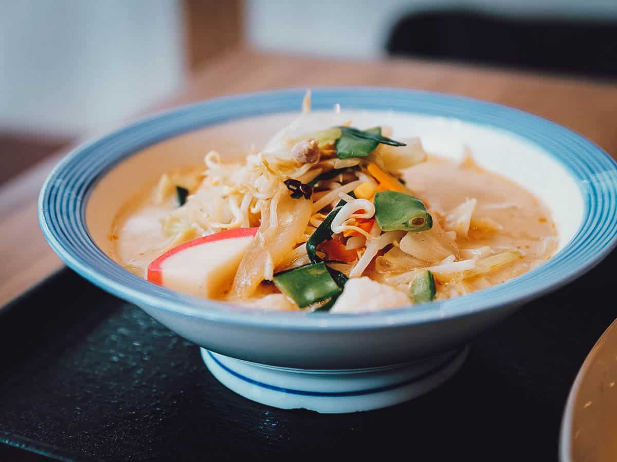 Bowl of champon in Nagasaki, Japan