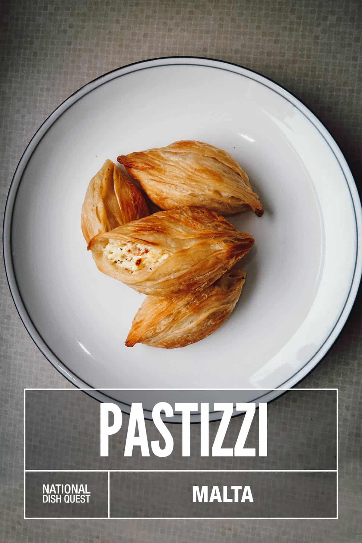 Plate of pastizzi