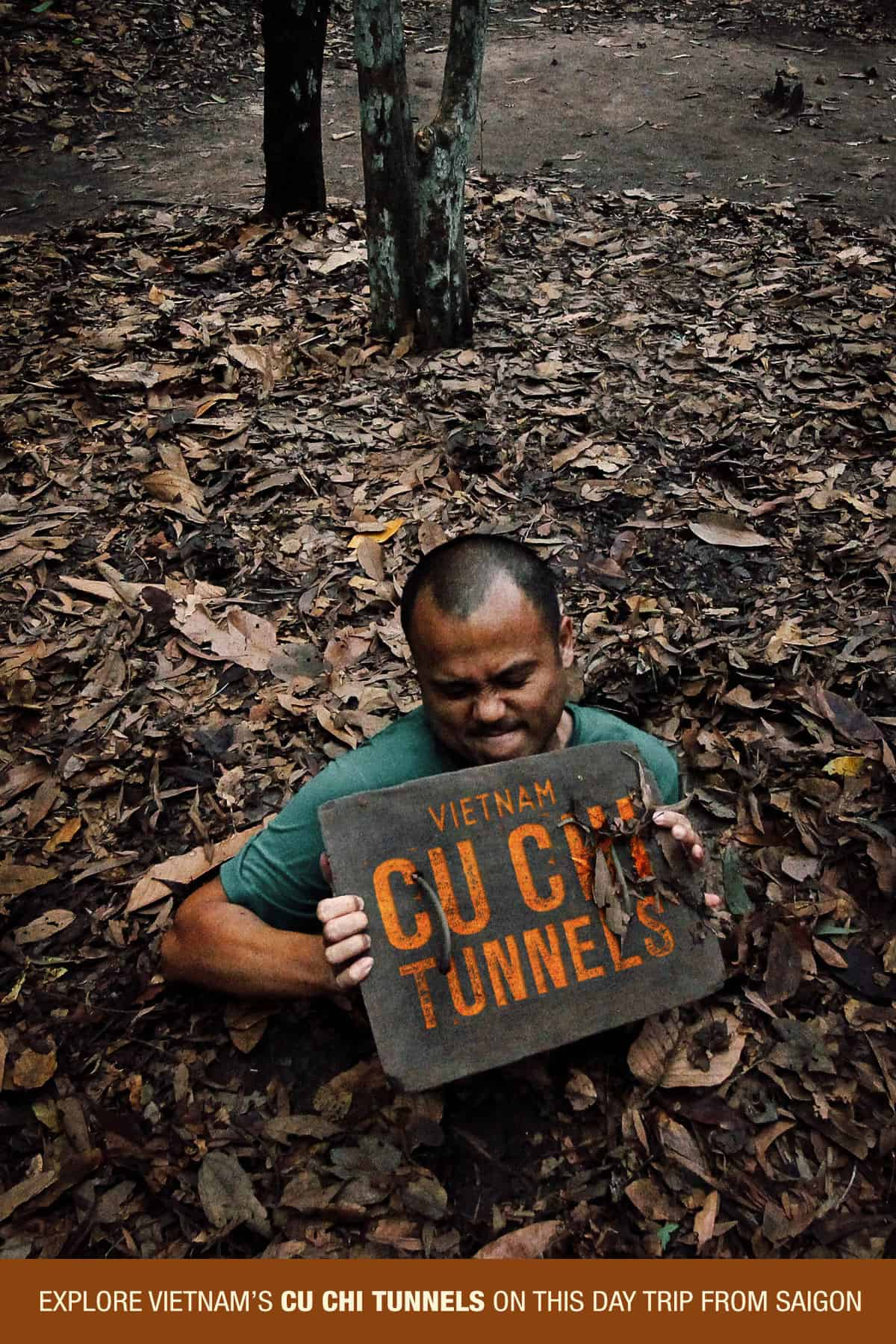 Emerging from the Cu Chi Tunnels in Vietnam