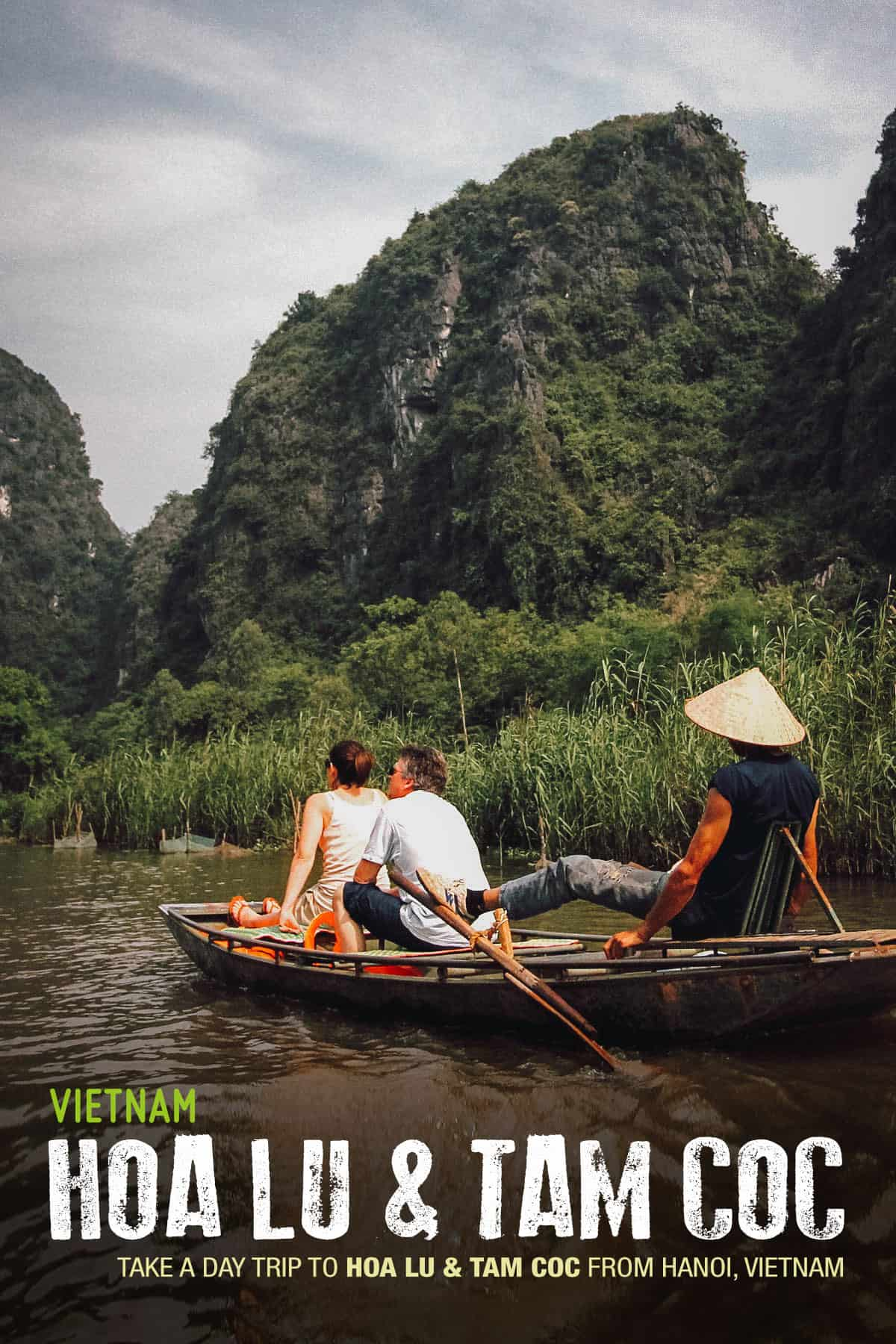 Cruising on the Tam Coc River in northern Vietnam