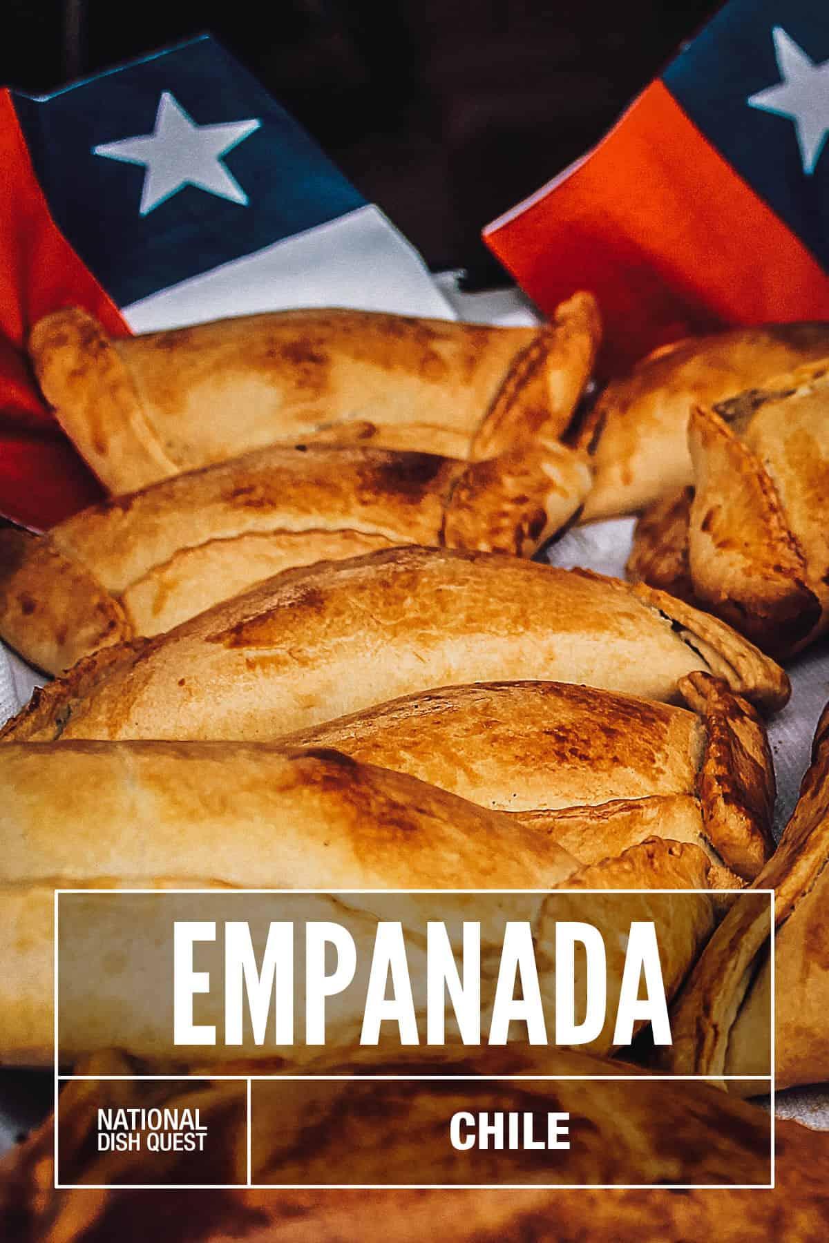 Tray of Chilean empanadas