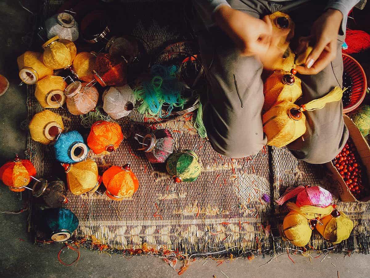 Lantern making in Hoi An, Vietnam