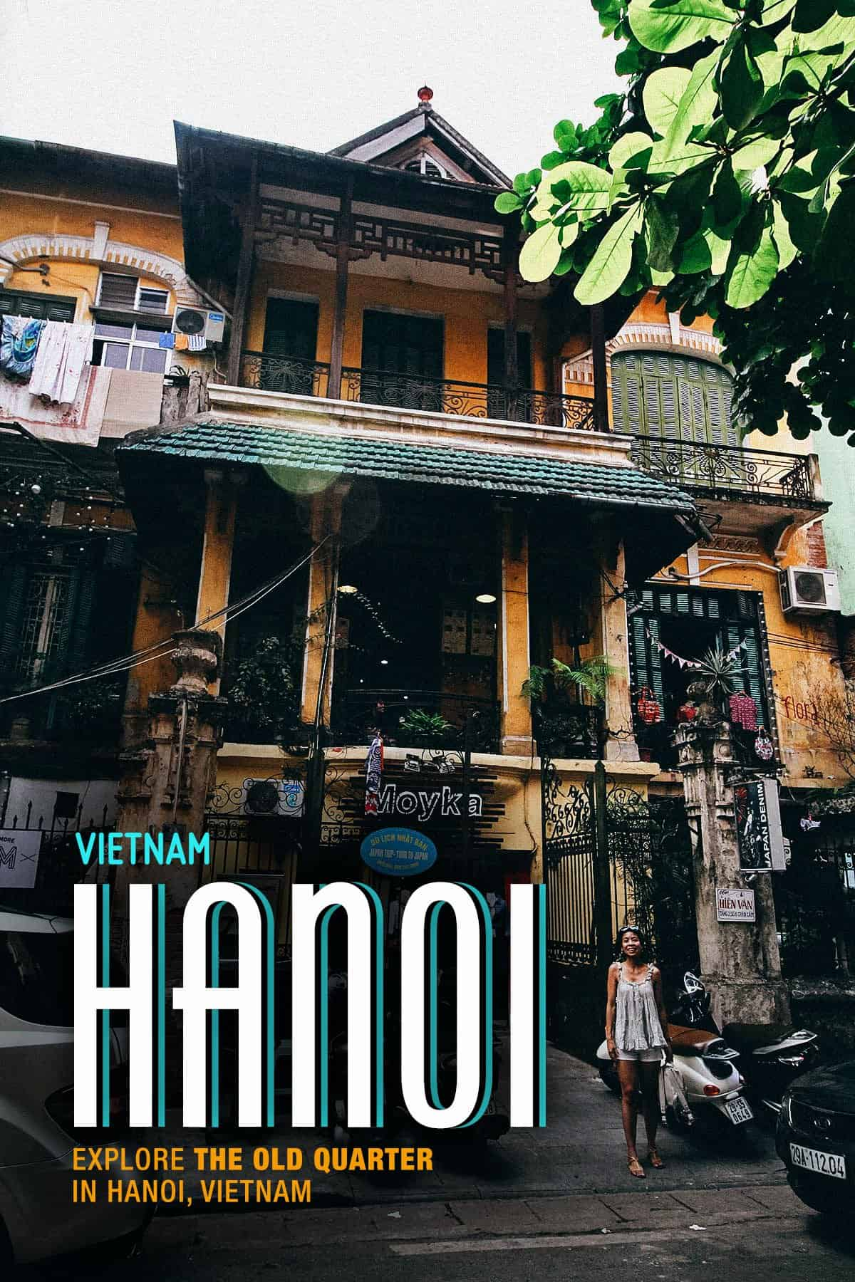 Old House in Hanoi, Vietnam