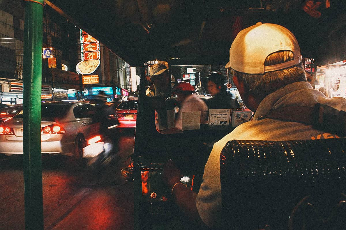 Explore Bangkok on a Tuk-Tuk Night Tour!