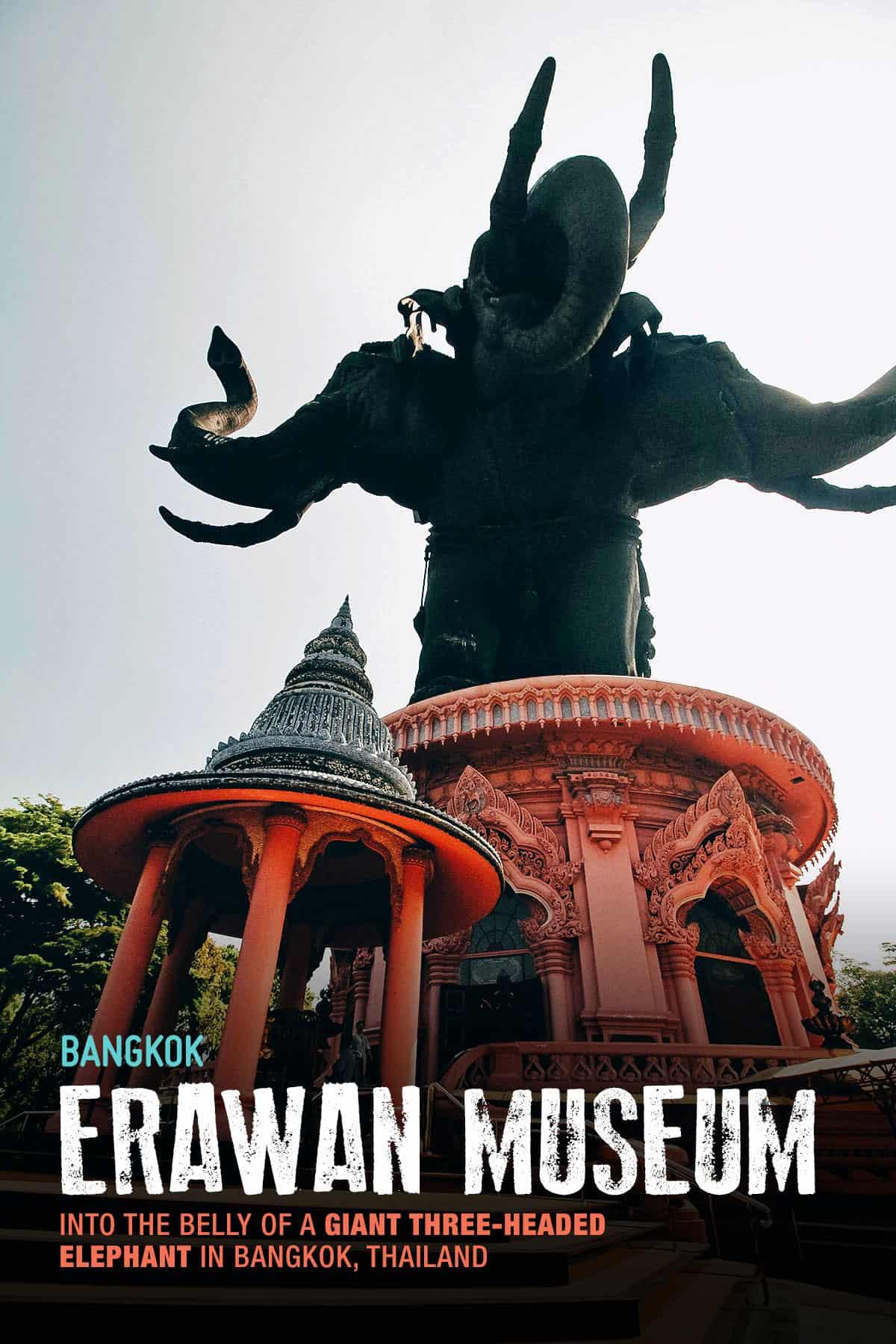 Giant three-headed elephant at Erawan Museum in Bangkok, Thailand