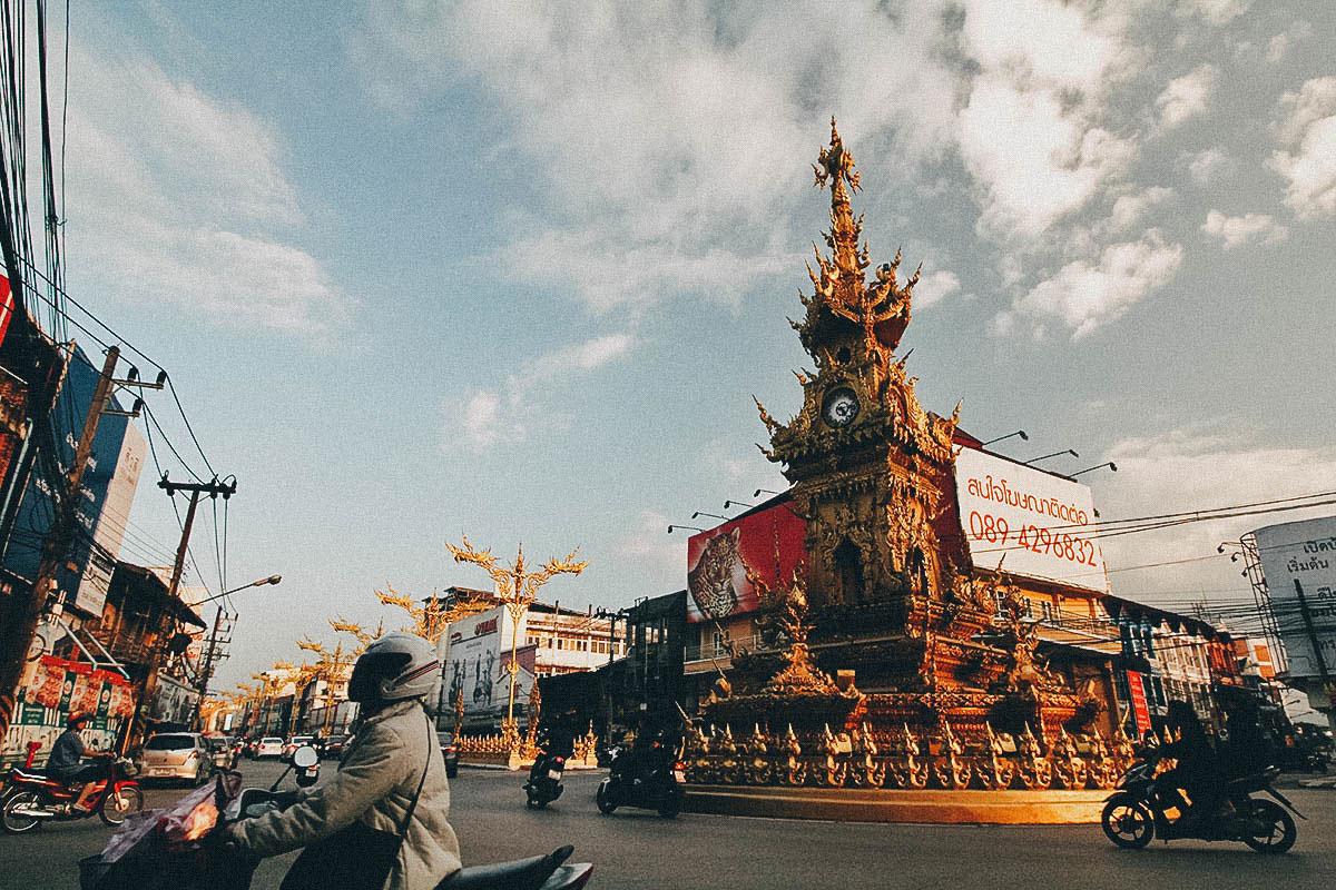 Exploring Chiang Rai, Thailand:  On Temples, a Golden Clock Tower, and Dancing Shrimp at the Night Bazaar