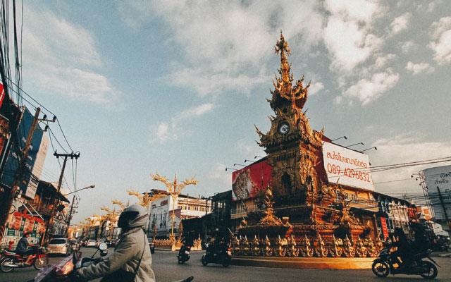 Exploring Chiang Rai, Thailand:  On Temples, a Golden Clock Tower, and Dancing Shrimp at the Night Bazaar