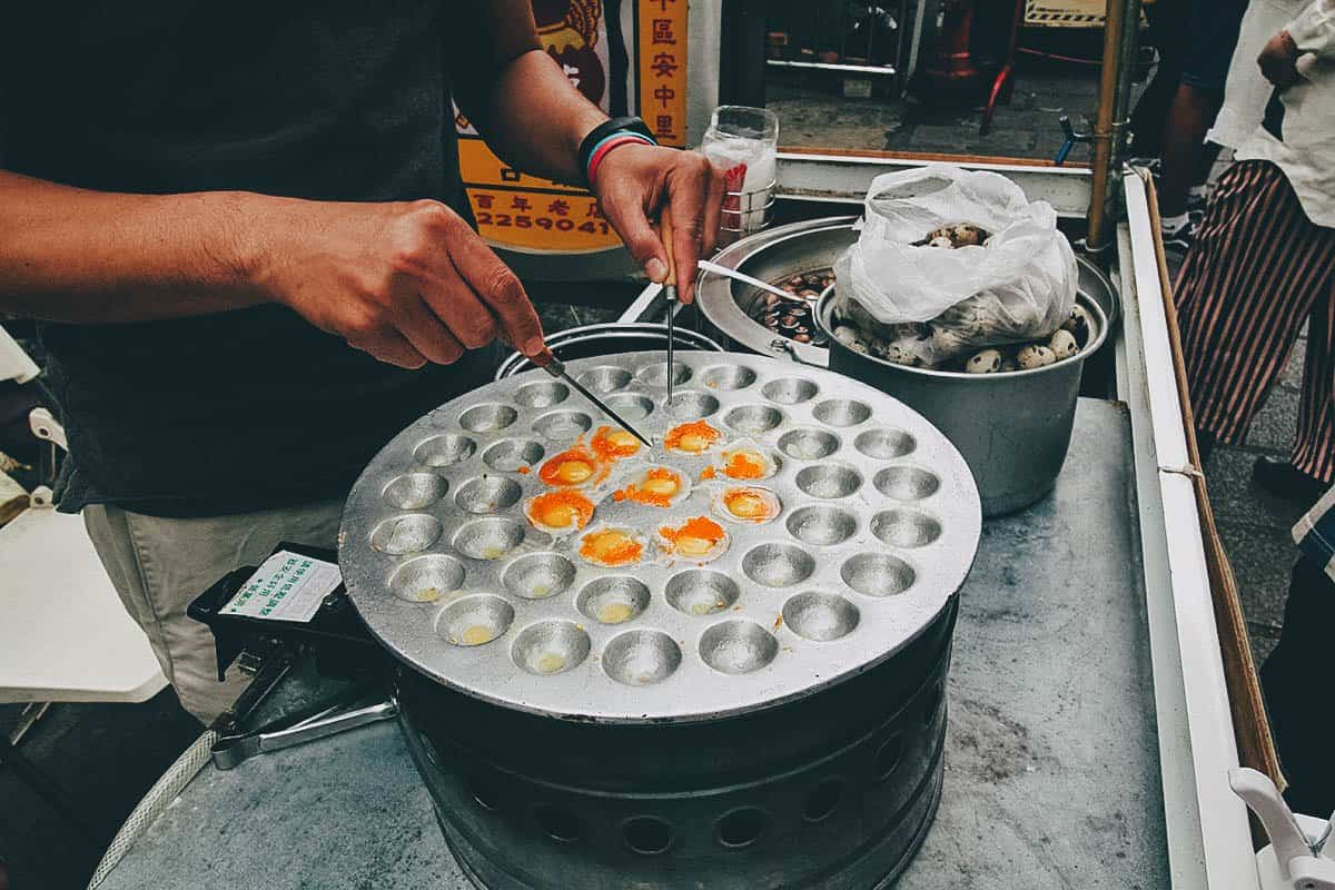 Quail eggs along Anping Old Street in Tainan, Taiwan