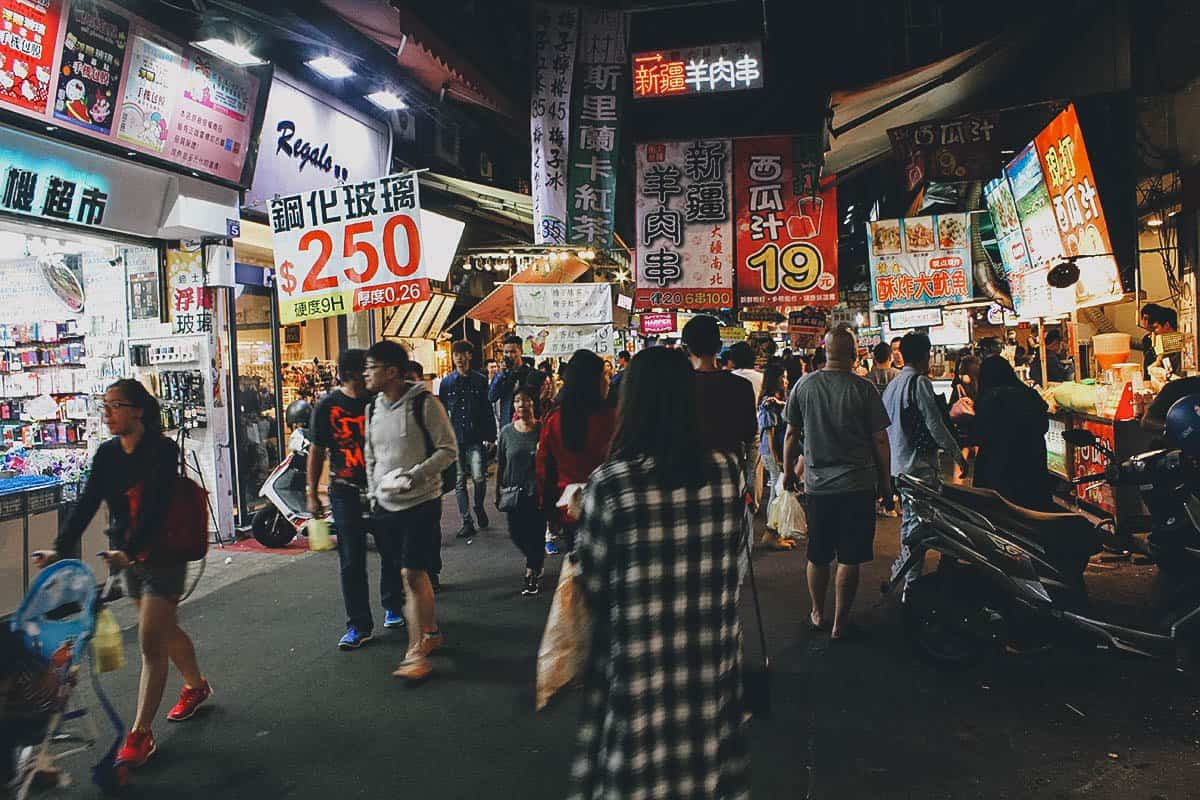 Fengjia Night Market in Taichung, Taiwan