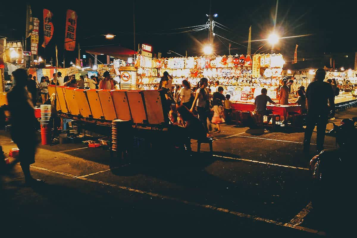 Flower Night Market in Tainan, Taiwan
