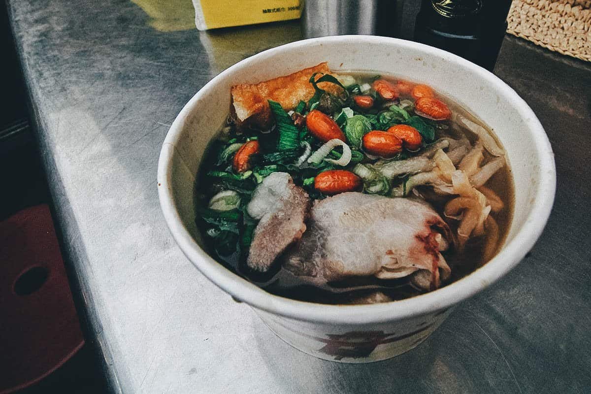 Noodle soup at Liouhe Night Market in Kaohsiung, Taiwan
